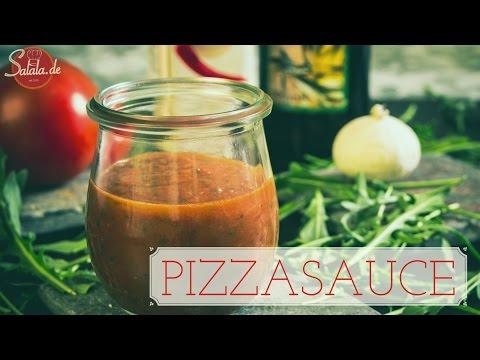 Pizzasoße selber machen - schnelle Pizzasauce - einfach kochen - Low Carb zuckerfrei - salala.de