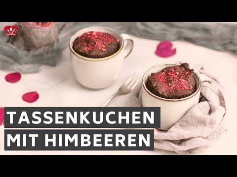 Schoko Himbeer Tassenkuchen 🍰 // KETO Rezept // ohne Zucker selber machen