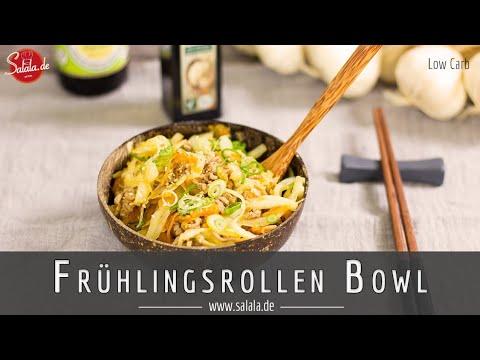 Frühlingsrollen Bowl I Frühlingsrolle zum Löffeln selber machen Low Carb Rezept