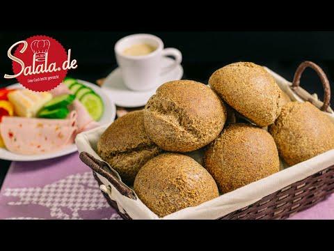 Keto-Brötchen I Low Carb Brot Rezept Sonntags-Semmeln I 1. Video von salala.de
