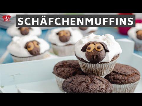 Schäfchenmuffins 🐑 // KETO Rezept // ohne Zucker mit Marshmallow Fluff // #Osterprojekt2021