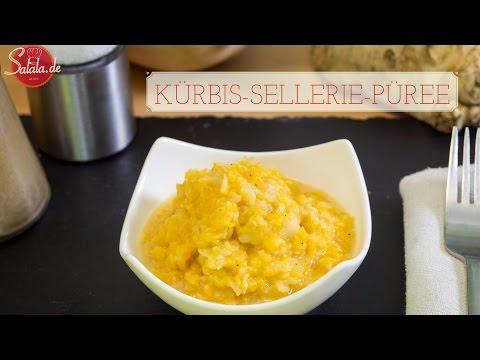 Kürbis-Sellerie-Püree - Low Carb Kartoffelbrei - Beilage - vegetarisch glutenfrei salala.de