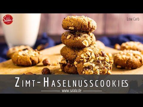 Haselnuss Cookies mit Zimt ohne Mehl und ohne Zucker I Low Carb Rezept
