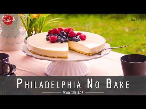 Philadelphia Torte No Bake Kühlschranktorte ohne Zucker ohne Mehl Low Carb
