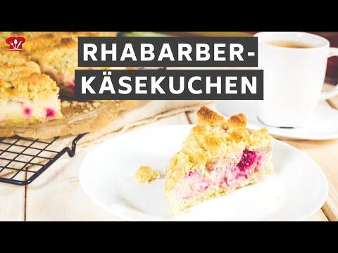 Rhabarber-Käsekuchen 🍰 // KETO Rezept // Rhabarberkuchen mit Streusel ohne Zucker und ohne Mehl