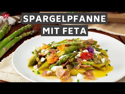 Spargelpfanne mit Schinken und Feta 😍 // KETO Rezept // schnelles Abendessen mit grünem Spargel