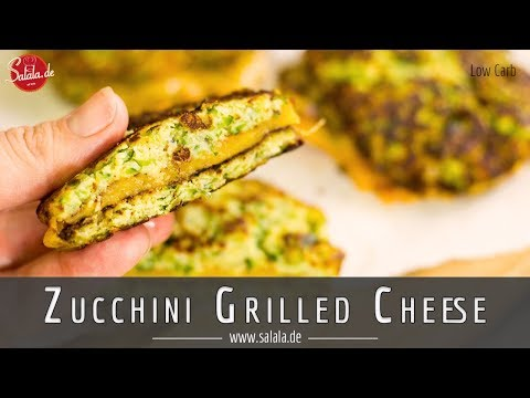 Zucchini Grilled Cheese Rezept ohne Mehl Low Carb