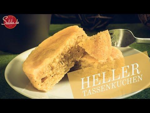heller Tassenkuchen - Low Carb backen - glutenfrei - salala.de