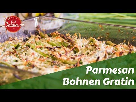 Parmesan Bohnen Gratin Low Carb Beilage vegetarisch