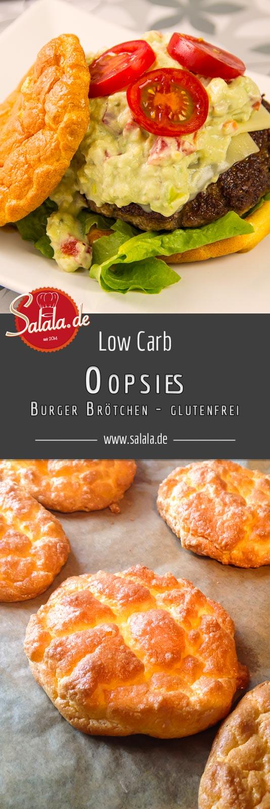 Oopsies sind der Low Carb Klassiker unter den Low Carb Brötchen. Du kannst Sie als Burger Brötchen oder als Low Carb Brotersatz backen. Die Low Carb Burger Brötchen haben nur 1 g Kohlenhydrate pro Stück!