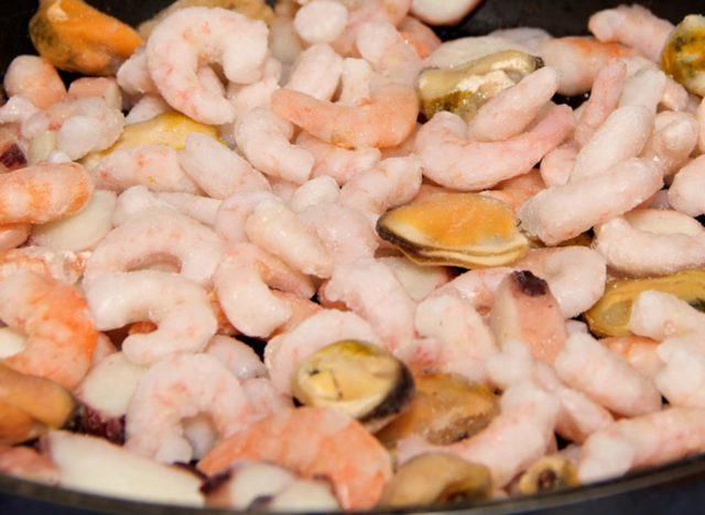 Meeresfrüchte in der Pfanne