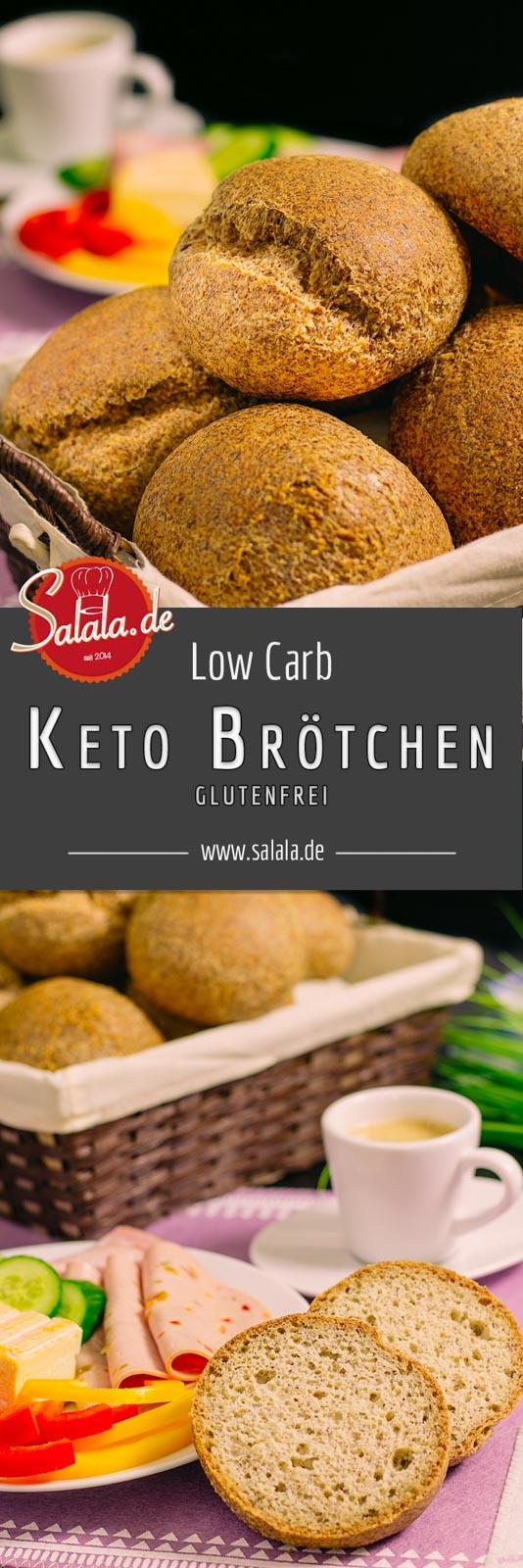 Keto-Brötchen Low Carb backen Sonntags-Semmeln glutenfrei backen - salala.de  #keto #lowcarb #glutenfrei #ketobrötchen #lowcarbbrot