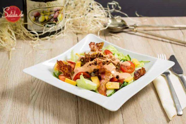 Big Mac Salat Rezept Low Carb einfach und schnell kochen salala.de Big Mac Salat? Mächtig, fettig und hammermäßig lecker! UND total low carb und ketogen!