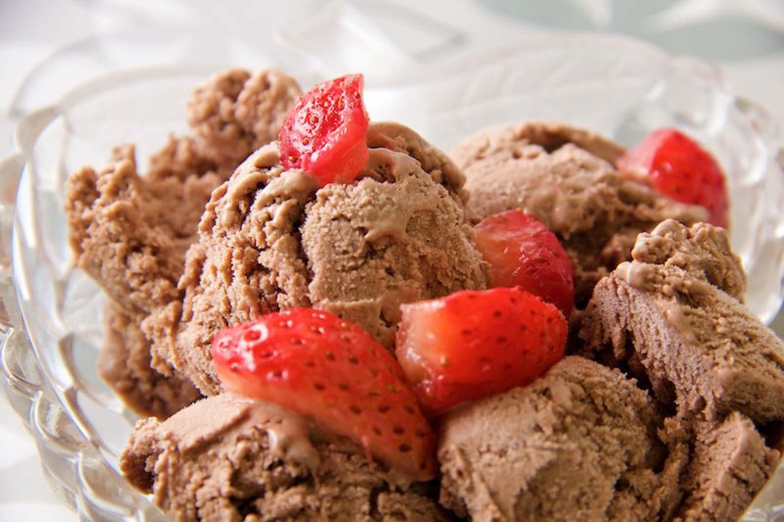 Schokoladeneis ohne Eismaschine