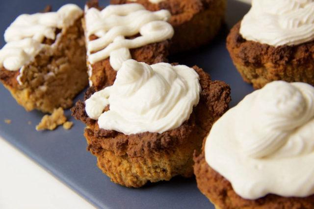 Kürbis Muffins mit Topping – Low Carb