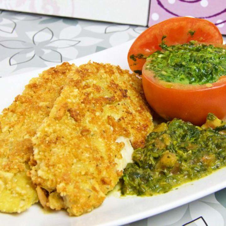 panierter Fisch in Parmesan Mandelkruste