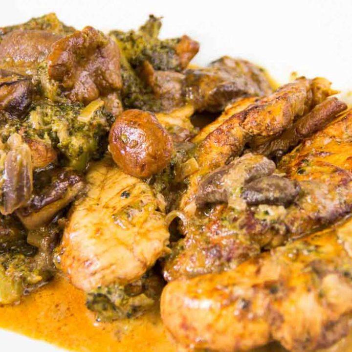 Hähnchen mit Waldpilz Brokkoli Sauce