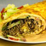 Big Mac Rolle Low Carb Rezept ohne Mehl und Gluten
