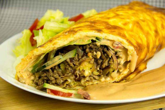 Big Mac Rolle Rezept – Low Carb – glutenfrei