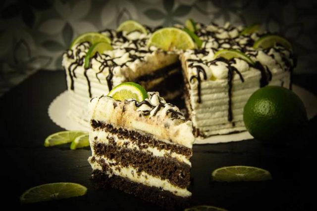 Schoko-Limetten-Torte – Low Carb – glutenfrei