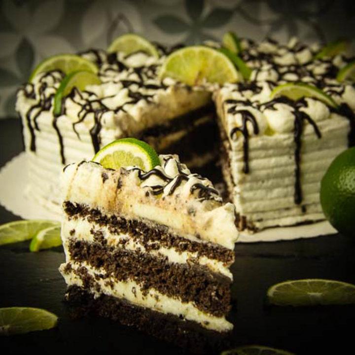 Schoko Limetten Torte Low Carb glutenfrei