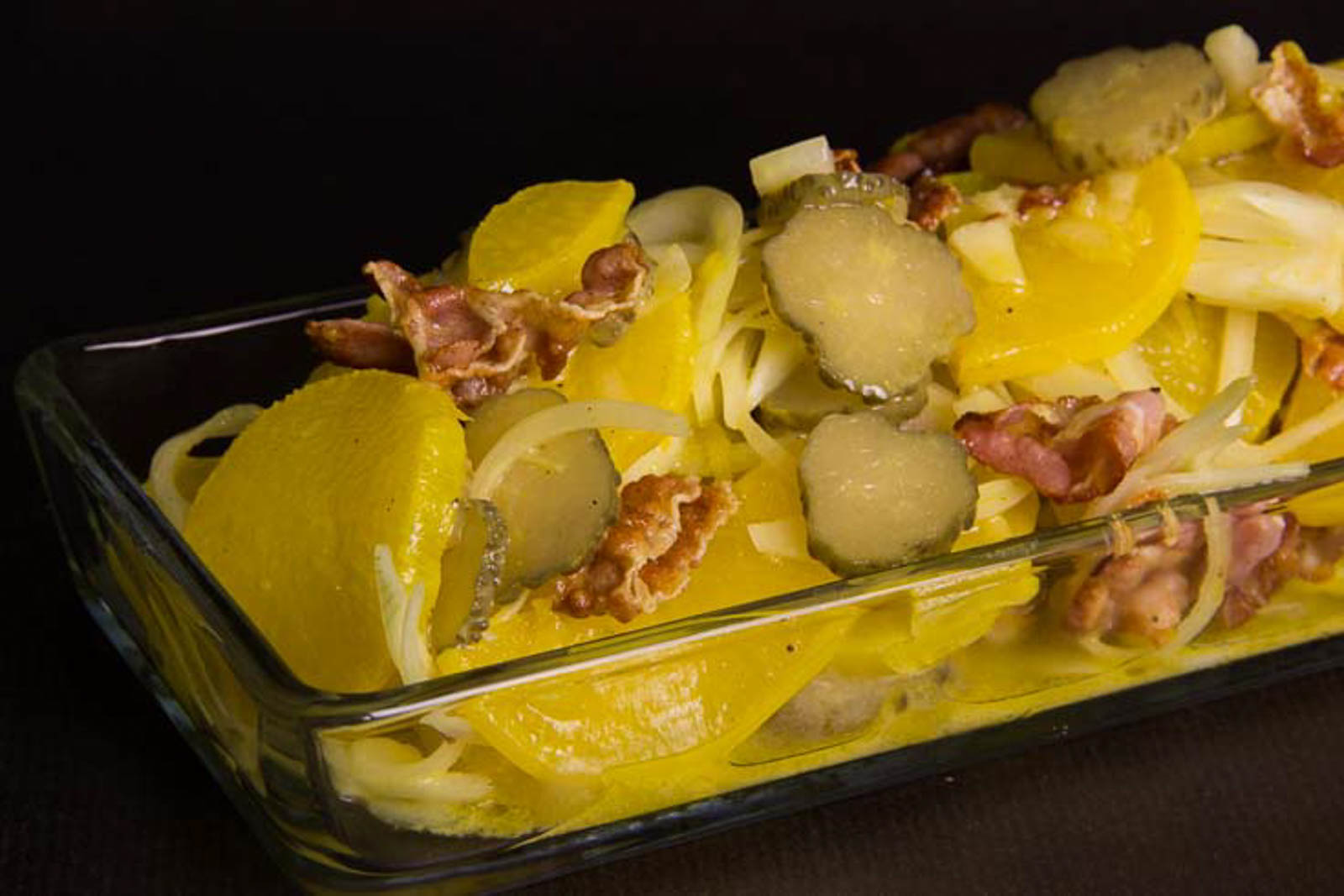 falscher Kartoffelsalat - Low Carb und glutenfrei - Rettichsalat mit Kurkuma