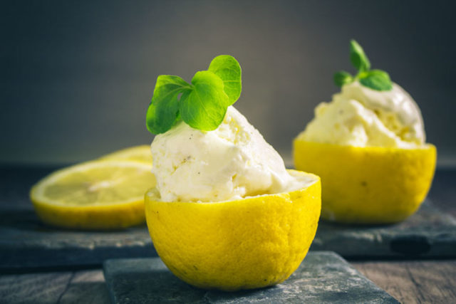 Zitroneneis Low Carb glutenfrei