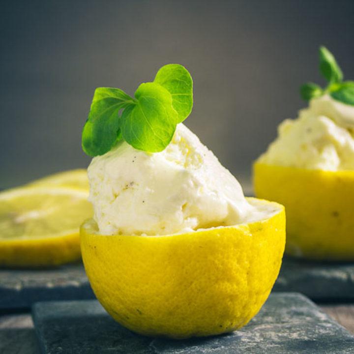 Zitronen Joghurt Frischkäse Eis
