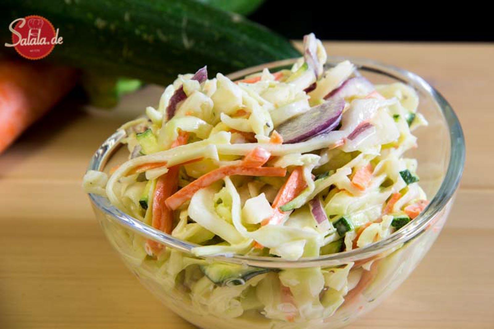 Coleslaw low carb glutenfrei vegetarisch
