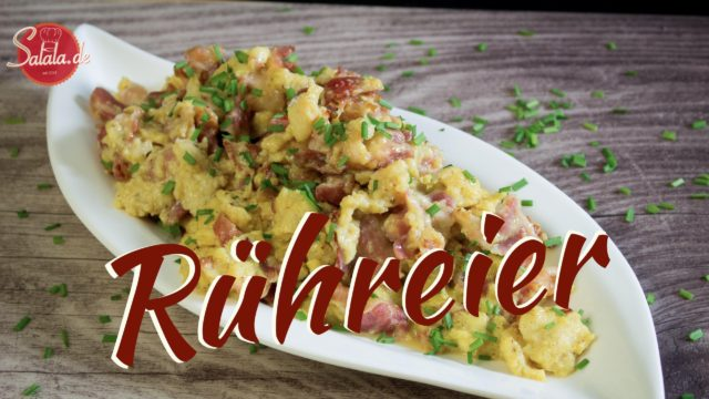 Rühreier mit Bacon – total cremig – low carb & glutenfrei