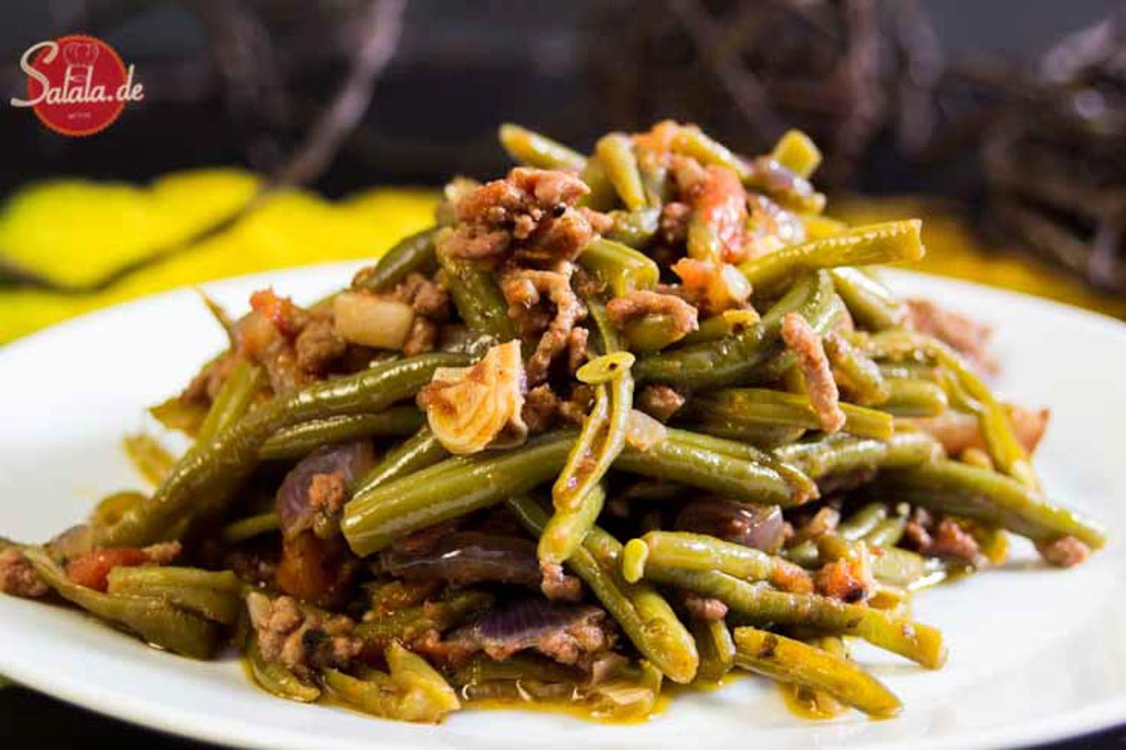 Hackfleisch Bohnen Pfanne Low Carb und glutenfrei
