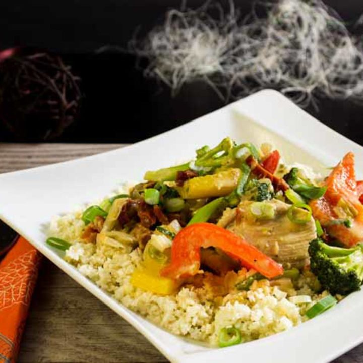Kokos Haehnchen Curry Low Carb Hauptgericht glutenfrei