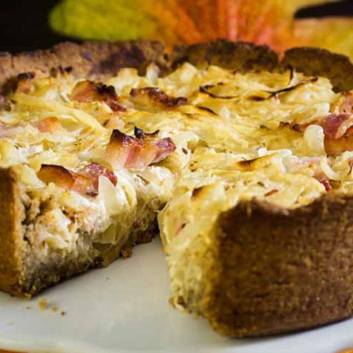 Zwiebelkuchen Low Carb und glutenfrei
