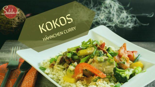 Kokos Hähnchen Curry - Low Carb und glutenfrei
