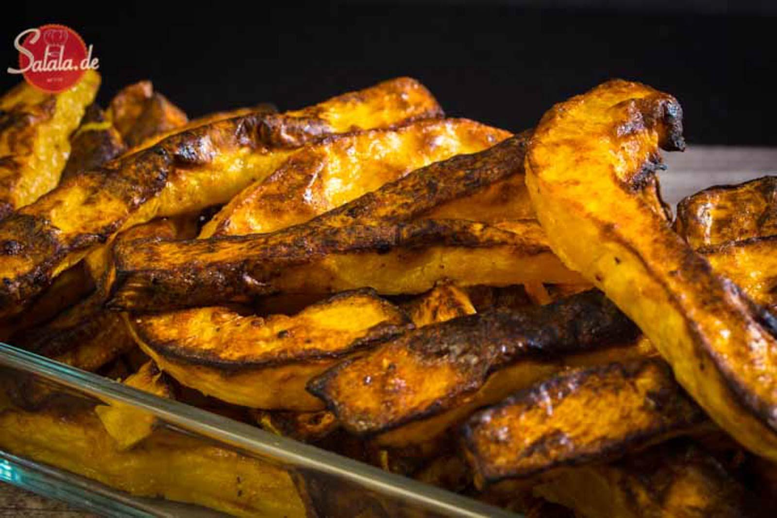 Kürbispommes in knusprig – Low Carb