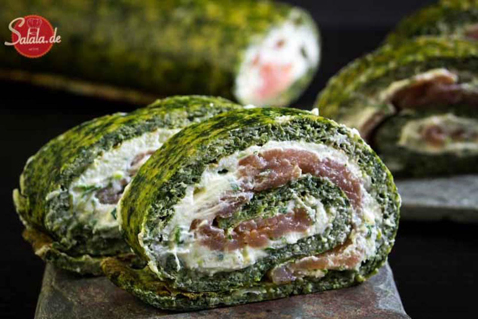 Lachs-Frischkäse-Rolle – low carb und glutenfrei