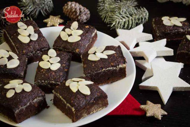 Lebkuchen Brownies Low Carb Rezept glutenfrei zuckerfrei - salala.de