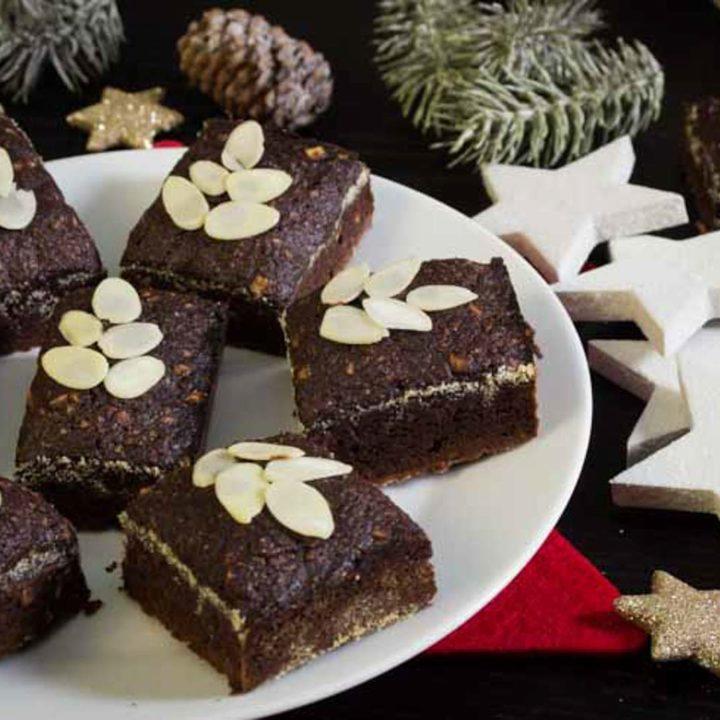 Lebkuchen Brownies Low Carb glutenfrei zuckerfrei salala.de