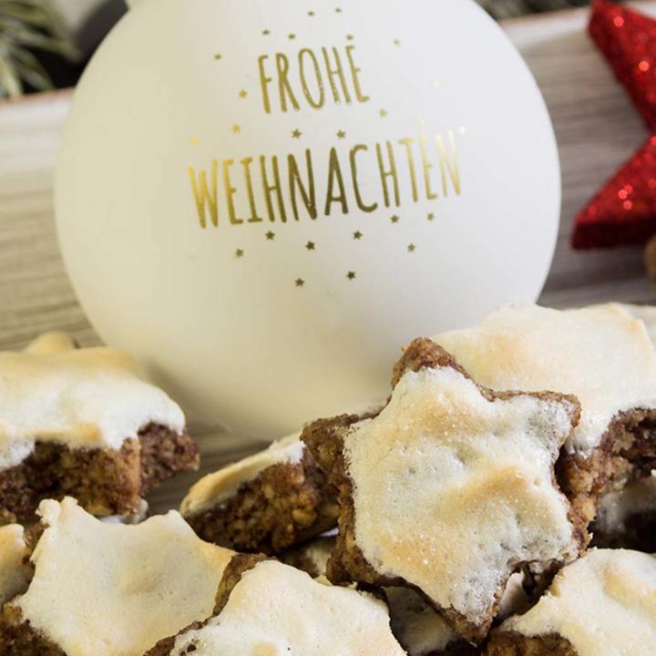 Zimtsterne Rezept Low Carb backen glutenfreie Plätzchen Weihnachten 2