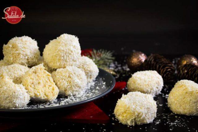 Schneebälle – Low Carb Weihnachtsbäckerei
