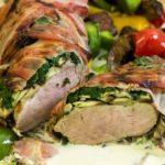 Schweinefilet champignon bacon spinat mantel low carb glutenfrei salala.de
