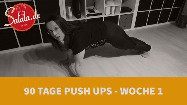 90 Tage Push Up Challenge Woche #1 – Low Carb Liegestütze