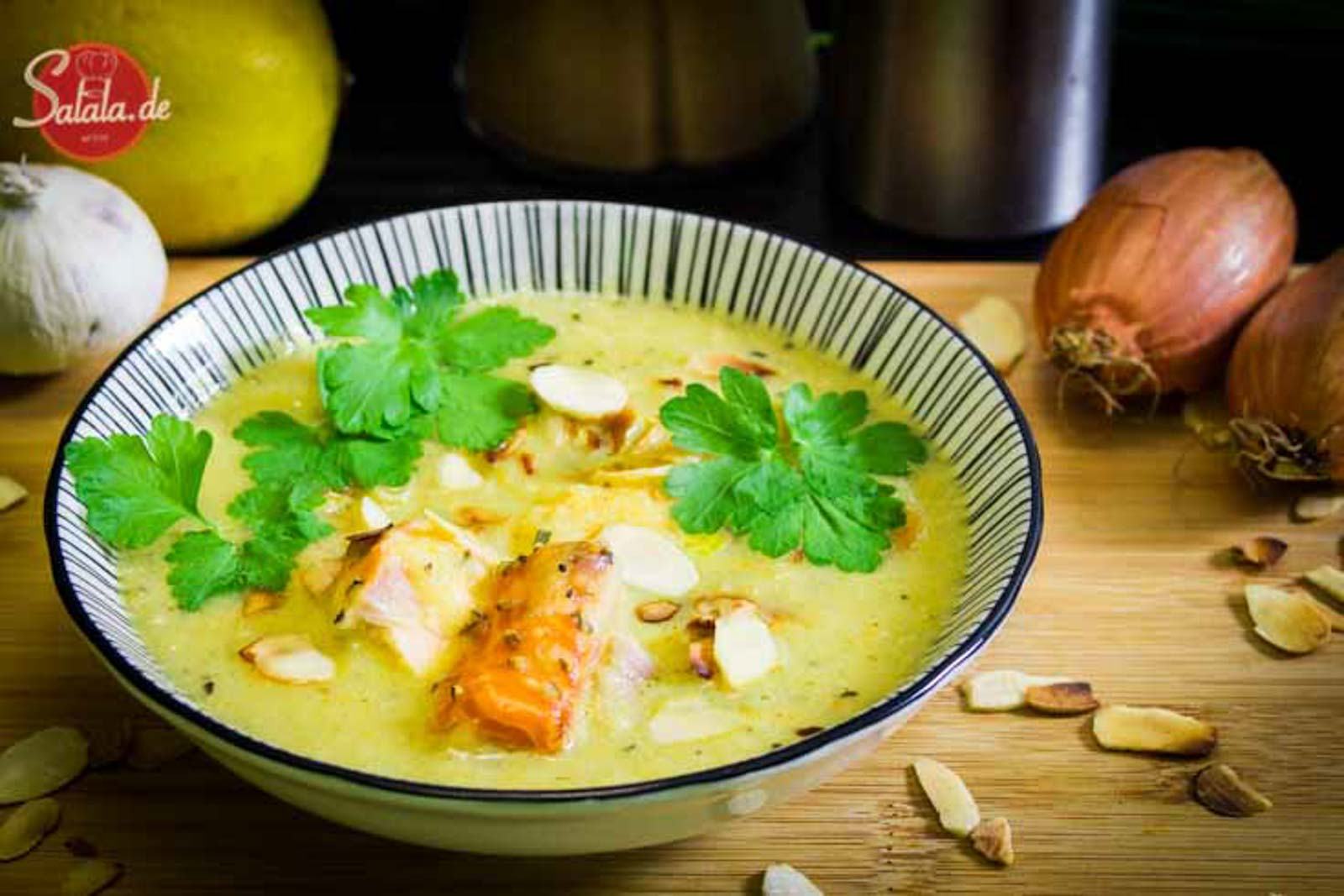 chicoree creme suppe mit stremellachs low carb glutenfrei salala.de