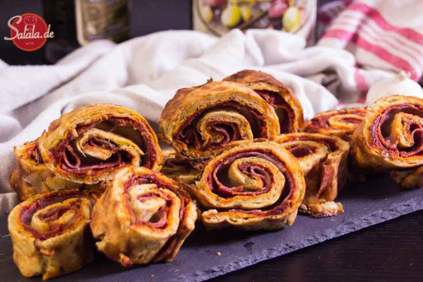 Pizza Röllchen Pizza Rolls low carb glutenfrei salala.de