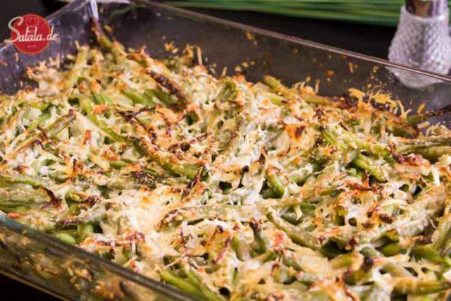 bohnen parmesan gratin low carb glutenfrei vegetarisch salala.de