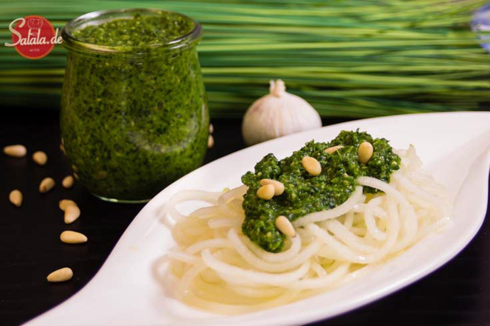 bärlauch-pesto grünes pesto low carb glutenfrei rezept salala.de