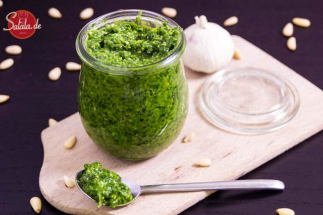 bärlauch-pesto grünes pesto low carb glutenfrei salala.de