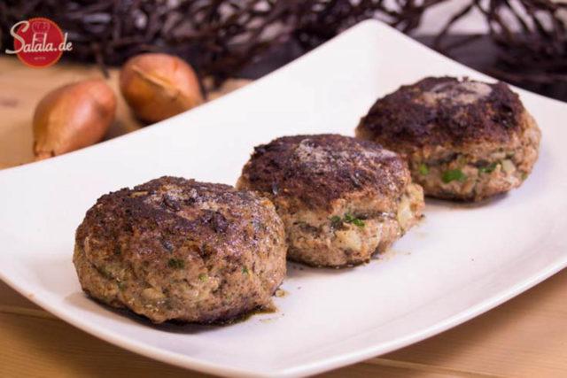Fleischpflanzerl Frikadellen Buletten Fleischküchle ohne brot rezept glutenfrei zuckerfrei salala.de