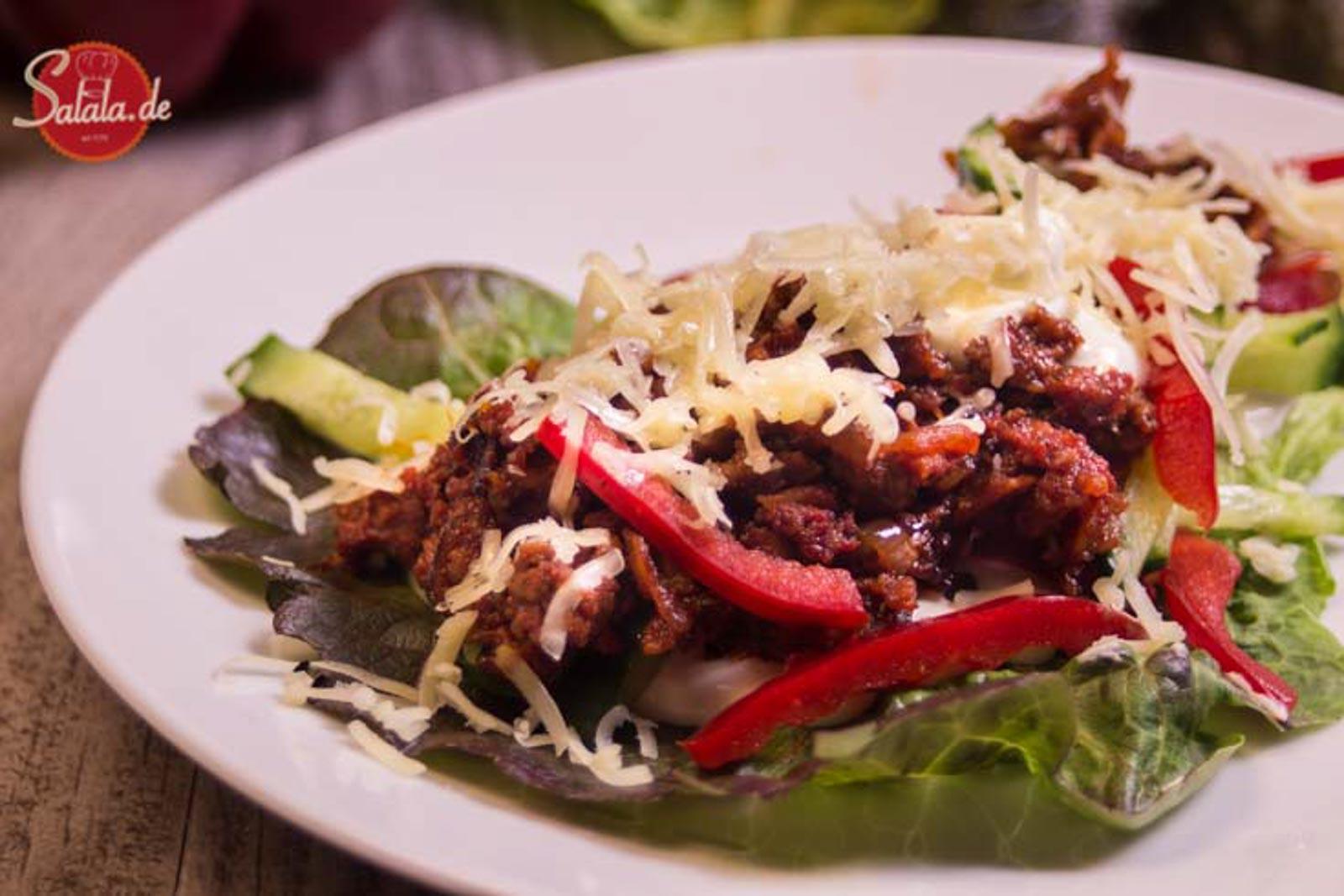 Salat-Tacos – low carb und glutenfrei