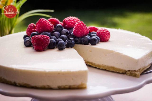 philadelphia torte low carb zuckerfrei glutenfrei no bake kühlschrankkuchen salala.de